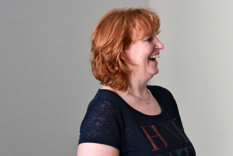 Erste Vorsitzende Edith Schäfer - Mit Spaß bei der Arbeit