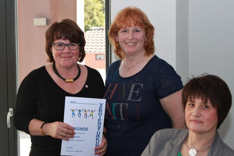 Ruth Karr, Edith Schäfer und Carmen Gretschuskin